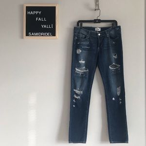 PAIGE JIMMY JIMMY SKINNY DISTRESSED JEANS